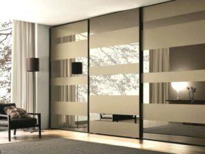 glass mirror wardrobe doors