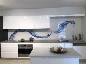 Glass splashback designs